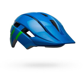 Bell Sidetrack II MIPS Helmet Youth strike gloss blue/green